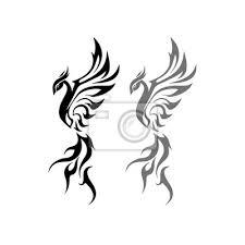 Fototapeta čínský Phoenix Tetování Design
