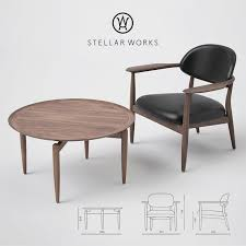 stellar works slow lounge chair and coffee table