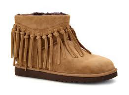office shoe shop ugg. UGG® Wynona Fringe Chestnut Womens Boot Office Shoe Shop Ugg L
