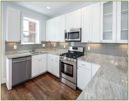 white kitchen cabinets with gray granite ideas light countertops