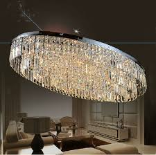 oval shaped modern style led ceiling lamp for living room dining oval shaped crystal chandelier