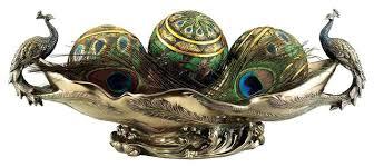 Decorative Balls For Bowls Canada Stunning Decorative Balls In Bowl Faux Bronze Peacock Decorative Centerpiece