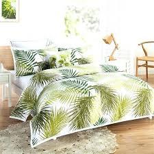 palm leaf duvet cover tropical leaf bedding palm tree quilt cover set palm leaves doona cover