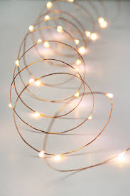 White Cord Led String Lights Copper Wire Fairy Lights 10 Ft Outdoor Battery Operated Warm