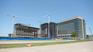 kdc tops out 3 state farm office towers at cityline in richardson dallas business journal