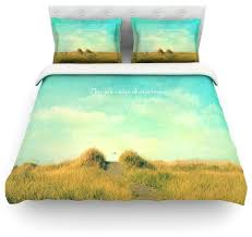 robin inson may your wishes blue brown duvet cover farmhouse duvet covers and duvet sets by kess global inc
