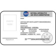 employee badges online nasa id card badge national aeronautics space administration from