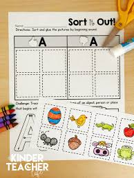 Phonics teaches a student to read by using the sounds of the letters in a word. Free Phonemic Awareness Sorting Worksheets A Kinderteacher Life