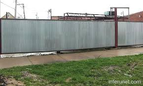 metal fence styles. Galvanized Metal Sheets Fence Picture Sheet Panel . Fencing Styles