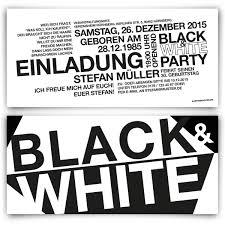 01 Einladungskarten Black White Party Gute Bilder