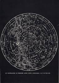 Southern Sky Star Chart Vintage Star Chart Based Seating Arrangement Hrvawedstyle