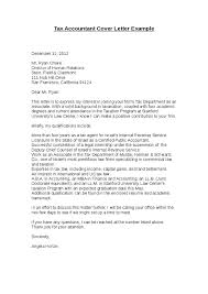 Accounting Cover Letter Format Tax Accountant Cover Letter Example