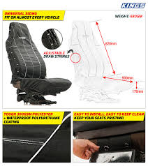 the adventure kings heavy duty seat covers are tough easy to clean and look fantastic in your 4wd