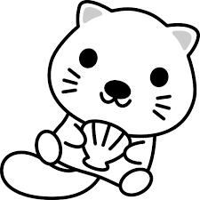 桜餅の白黒イラスト関西風道明寺 無料フリーイラスト素材集