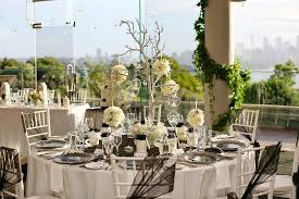 white and black wedding tablescape
