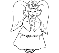 Small Picture Angel coloring pages online