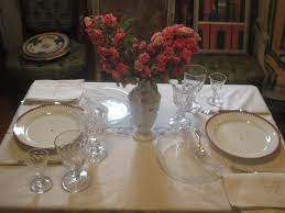 Table Setting In French Southern Folk Artist Antiques Dealer Collector Lunch At Le