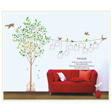 room removable family tree photo frame bird wall stickers vinyl art decal decor