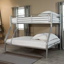 Duro Wesley Twin over Full Bunk Bed - Silver - Walmart.com