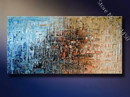 framed handmade large knife oil painting on canvas modern abstract art deco beautiful picture wall art room home decoration o26 in painting calligraphy