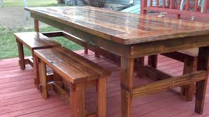 Farm Table Plans Ana White Rustic Farm Table Benches Diy Projects