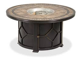black gold 48 round porcelain tile top lp fire pit coffee table