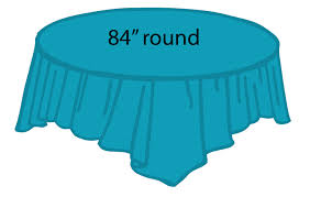 84 plastic round tablecover turquoise