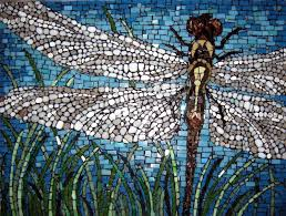 Dragonflies Wall Decor Hand Cut Mosaic Dragonfly Beautiful Close Up And Mosaics