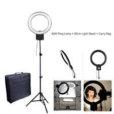 makeup light stand. studio 40w 5400k fluorescent diva ring light with 90cm tripod stand + carry bag kit for makeup aliexpress.com