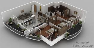 home design plans 3d creative 3 bedroom home design plans 3