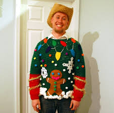 Cute Idea For An Ugly Sweater Christmas Party  Tutorial On The Ugly Christmas Sweater Craft Ideas