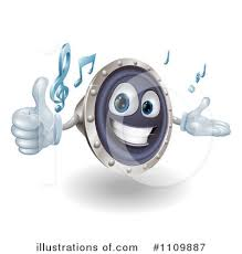 music speakers clipart. royalty-free (rf) music speaker clipart illustration #1109887 by atstockillustration speakers k