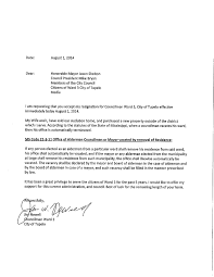 resignation letter church  seangarrette cohonorable mayor church resignation letter jason shelton council president mike bryan request acceptance city tupelo   resignation letter