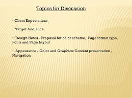 web design presentation creative vision topics