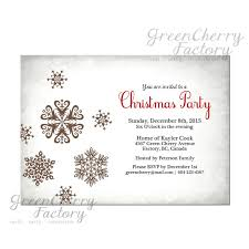 Simple Christmas Party Invitations