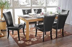 Esstisch Stühle Leder Braun