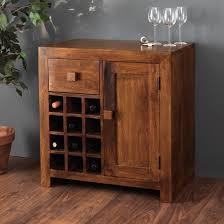 Solid Mango Wood Wine Cabinet 12 Bottle Wine Rack