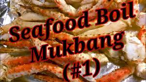 SEAFOOD BOIL MUKBANG (#1)~ KING CRAB ...