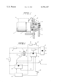patent us4354147 drive and control arrangement for a mechanical patent drawing