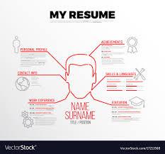 Original Minimalist Cv Resume Template