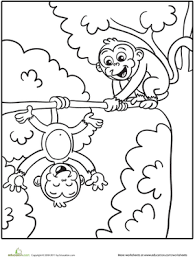 Small Picture Silly Monkeys Coloring Page Worksheets Pre school and Monkey