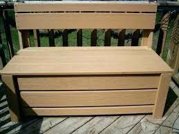 outdoor storage box plastic garden bench seat cushion furniture patio sa hardwood wo