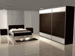 charming ultra modern bedroom lighting ideas with brown closet wardrobe and glossy wooden floor also cubical brown nightstand plus grey painted ceiling