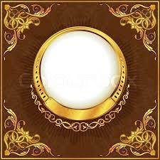 gold frame border vector. Wonderful Gold Gold Frame With Ornamental Border Vector With Frame Border Vector 4