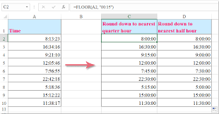 Quarter Hour Time Conversion Chart How To Round Round Up Round Down Time To Nearest Quarter