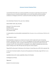 announce summer employee picnic use this letter format when your company would like to announce retirement letter to company