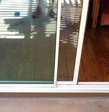 sliding glass door track repair glass