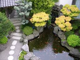 cool rooftop garden design ideas for your garden decoration with fish pond and white stone steps