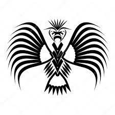 Orel Symboly A Tetování Vektorové Ilustrace Stock Vektor