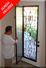 glass front doors with iron. Wonderful Iron Screen Included With Door Conversion In Glass Front Doors With Iron R
